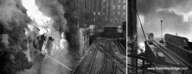 In January 1951, a fire threatened CTA's little-used North Water Street stub terminal, which managed to survive until 1963.
