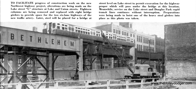 In May 1958, service continued uninterrupted during major projects.