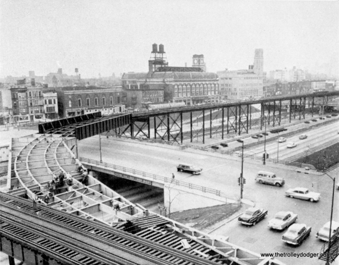 By Spring 1958, work was nearly complete on the ramp connecting the Douglas and Congress lines.