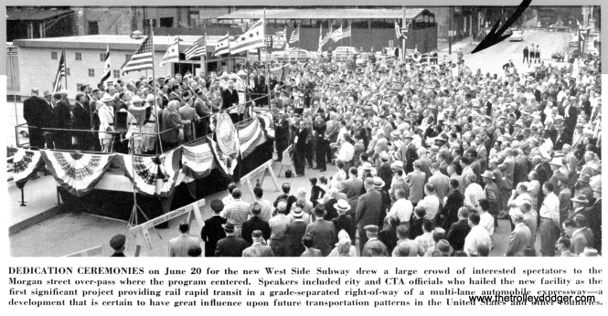 The opening of the Congress line was a matter of considerable civic pride for Chicago, the CTA, and Mayor Richard J. Daley.