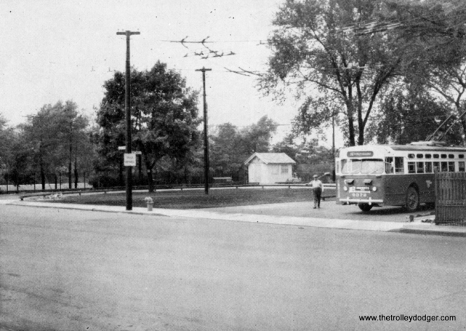 CTA opened a new bus turnaround loop at Irving Park and Neenah in July 1958. This was one of more than 100 such off-street loops. This particular loop is no longer in use and was sold to developers. It is now part of a driveway. It was originally used by the #80 Irving Park and #86 Narragansett routes. Over time, this loop became superfluous as the 86 was extended farther north and some of the short-turns were eliminated on 80.