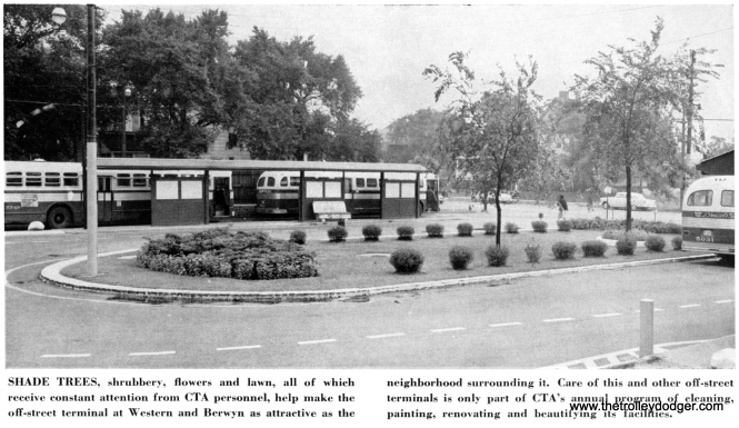 Many of CTA's more than 100 off-street loops were beautifully landscaped, a tradition going back to the 1930s and the Chicago Surface Lines. Unfortunately, over the years many of these manicured green spaces have been replaced by asphalt.